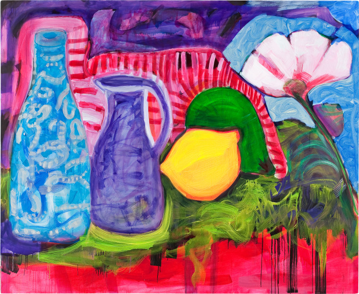 Angela Brennan Still life, 2009; oil on linen; 180 x 220 cm; enquire