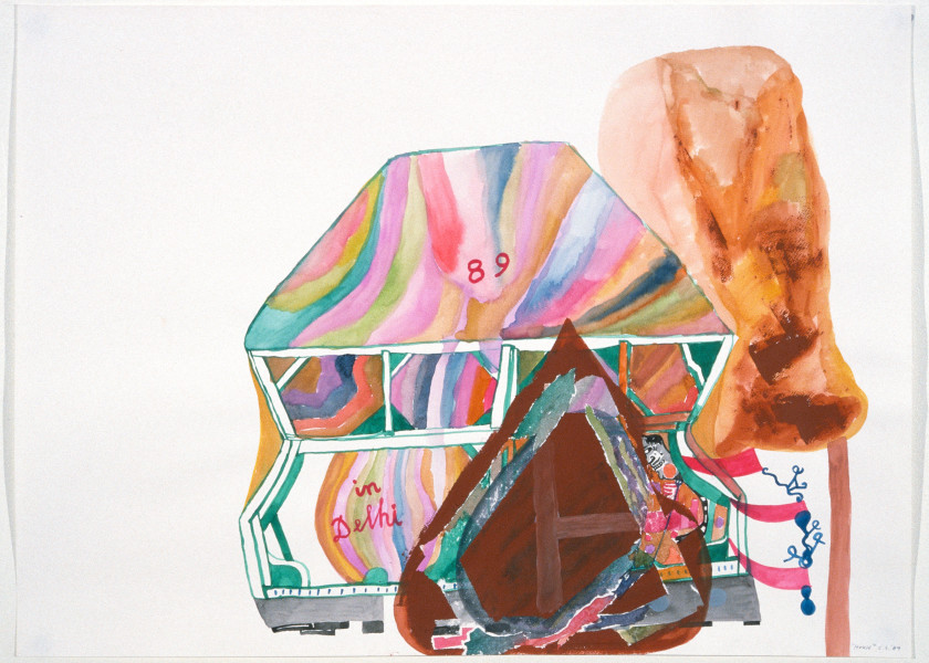 Gareth Sansom House, 1989; watercolour on paper; 56 x 76 cm; enquire