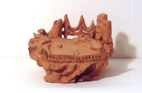 Linda Marrinon View from a bridge, 1998; from the series Sculpture For The Home; Terracotta; 12 x 20 x 20 cm; enquire