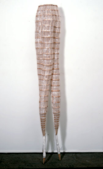 Bronwyn Oliver Ancestor II, 1987; paper, fibreglass resin, cane; 203 x 35.5 x 35.5 cm; enquire