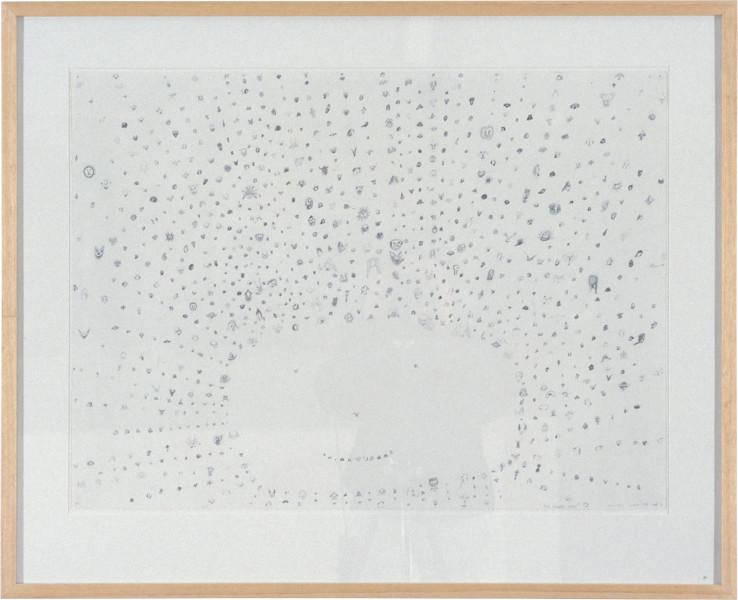 Chris Ofili The Chosen Ones, 1995-96; pencil on paper; 56 x 76 cm; enquire