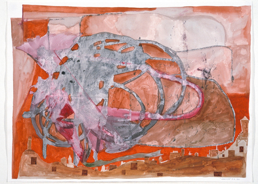 Gareth Sansom Landscape, 1989; watercolour and ink on paper; 56 x 76 cm; enquire