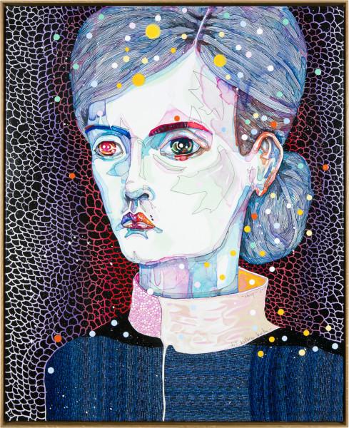 Del Kathryn Barton Shiny, 2014; acrylic on french linen; 83.5 x 68 cm; enquire