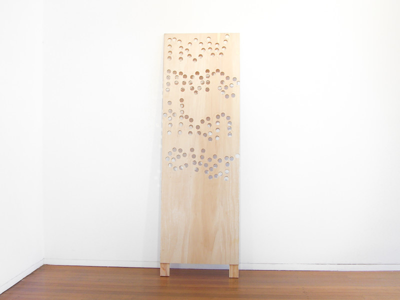 Christopher Hanrahan Now More Than Ever (real terms), 2006; plywood; 189.5 x 60 cm; enquire