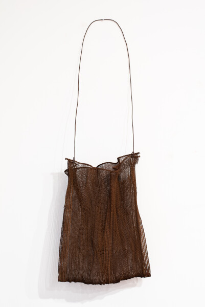 Lorraine Connelly-Northey Narrbong, 2019; CONNL - 0023; rusted bed base wire; 173 x 57 x 27 cm; Enquire
