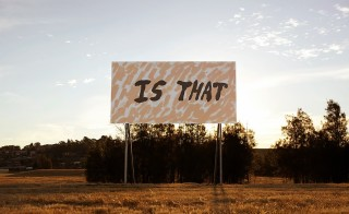 Tom Polo ALL I KNOW, 2014; site specific billboard project; 250 x 500 cm; enquire