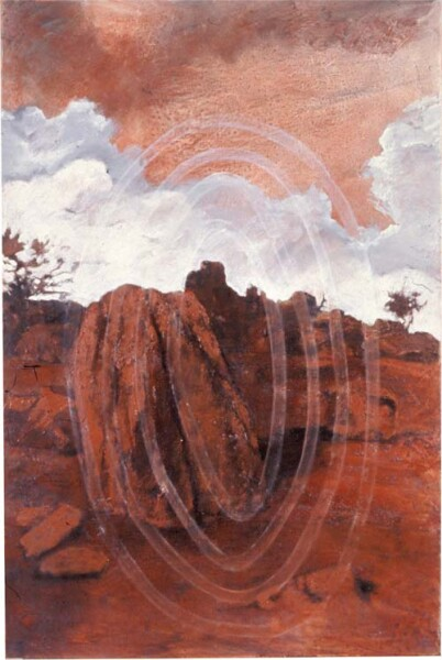 Mandy Martin and Trisha Carroll Absence and Presence 2, 2004; ochre, pigment and oil on linen; 150 x 100 cm; enquire