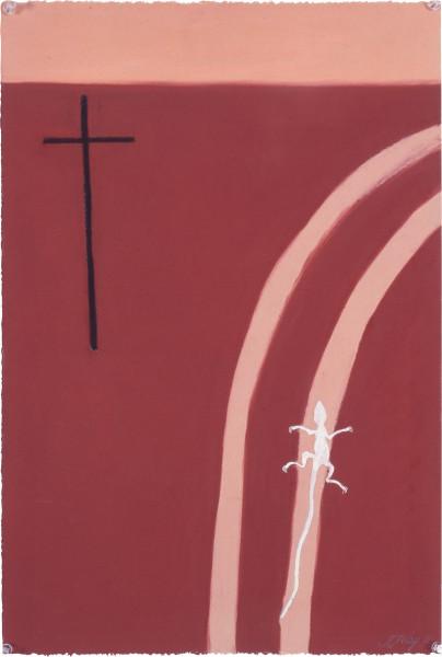Fiona Foley Cross at Sun Set, 1992; pastel on paper; 56 x 38 cm; enquire