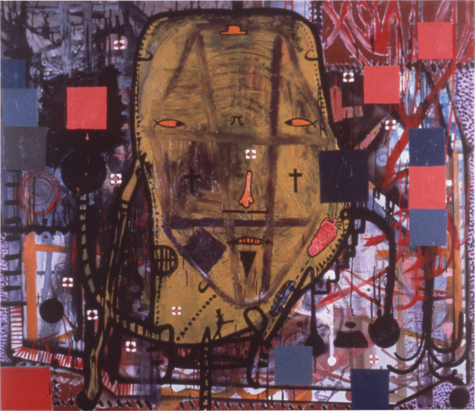 Gareth Sansom The Wake, 1986; oil on canvas; 182 x 213 cm; enquire