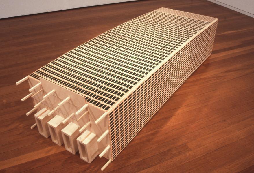 James Angus Seagram Building, 2000; spruce, MDF, plexiglass; 45 x 240 x 75 cm; enquire