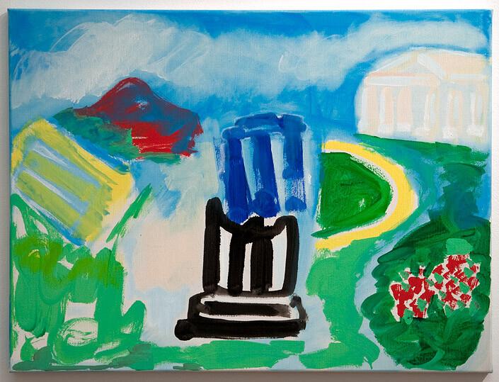 Angela Brennan Blue Temple, 2010; Oil on linen; 60.5 x 80 cm; enquire