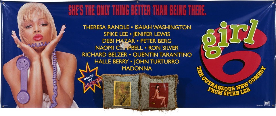 Dale Frank She's the Only Thing Better than Being There, 1997; mixed media on printed vinyl; 119 x 306 cm; enquire