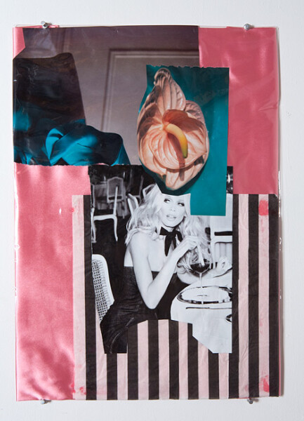 Jacqueline Fraser Christian Dior Looking at Daniel Buren at the Guggenheim NYC, 2013; Mixed media collage; 59 x 42 cm; enquire