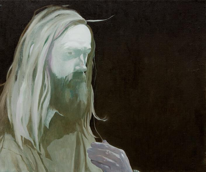 Glenn Sorensen What is my lesson, 2011-12; oil on linen; 47.5 x 56 cm; enquire