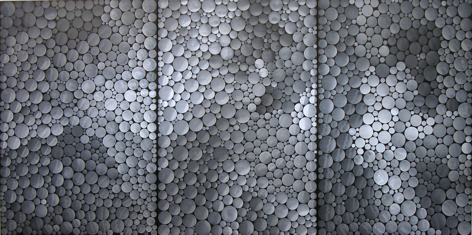 Yayoi Kusama Infinity Dots (HTI), 2001; acrylic on canvas; 194 x 390 cm; enquire