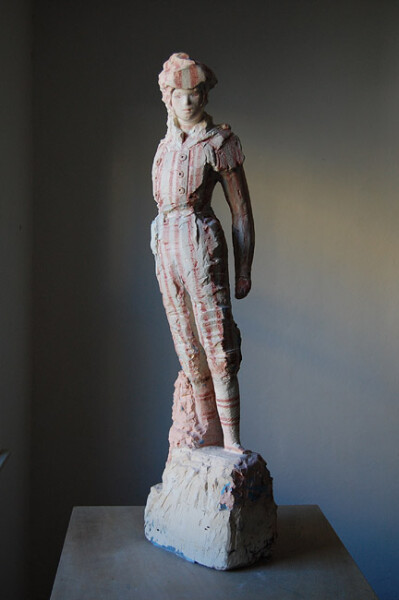 Linda Marrinon Rake in Mourning, 2009; tinted and painted plaster; 97 x 28 x 27 cm; enquire