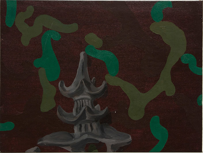 Tony Clark Chinoiserie Landscape, 1986; oil on canvas board; 25 x 38 cm; enquire