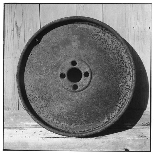 Bill Culbert Iron car wheel, 2002; Edition of 25; enquire