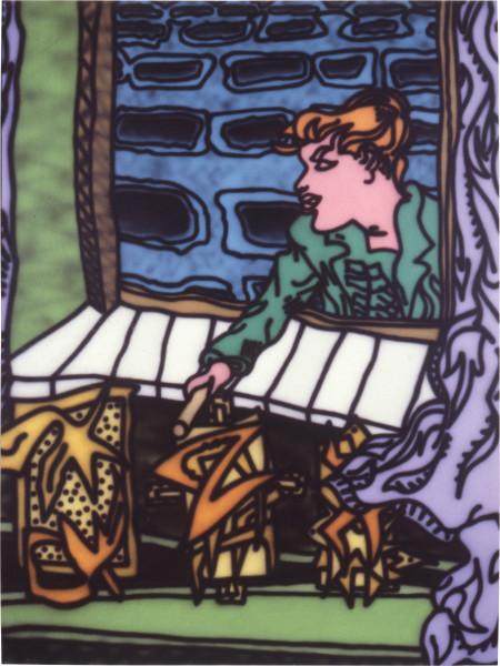 Howard Arkley Felony, 1987; acrylic paint on canvas; 160 x 122 cm; enquire