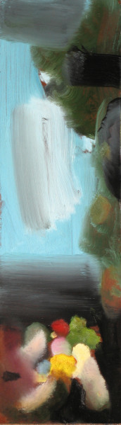 Louise Hearman Untitled #1139, 2005; oil on masonite; 14 x 46 cm; enquire