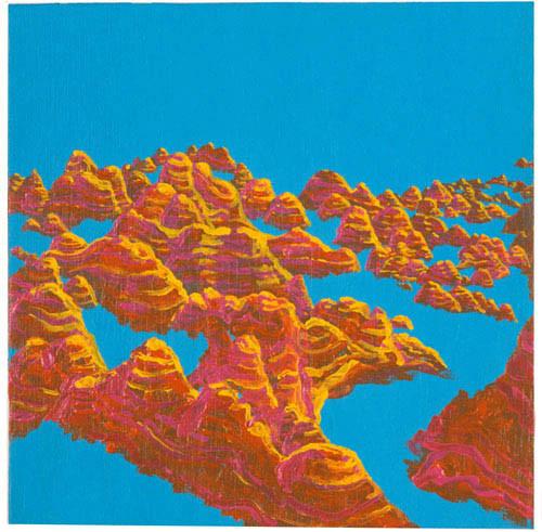 Nell Bungle Bungles, 2003; acrylic on canvas; 25.5 x 25.5 cm; enquire