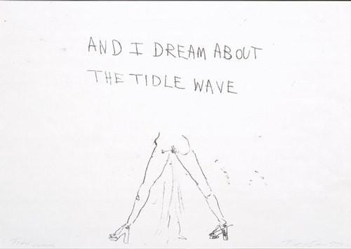 Tracey Emin Tidal wave, 1999; black ink on paper; 42 x 60 cm; enquire