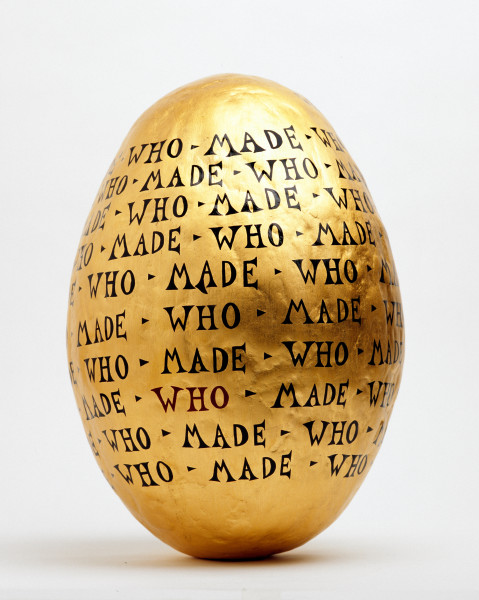 Nell Who Made Who, 2004; gold leaf, acrylic and enamel paint, varnish, epoxy joining compound, foam; 36.5 x 25 x 25 cm; enquire