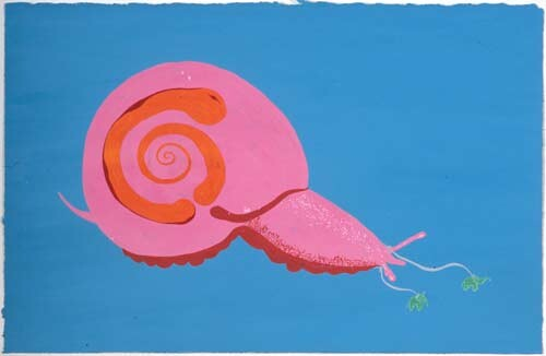 Nell STOP, STOP, HURRY, HURRY, 2004; gouache on paper; 22.2 x 34.1 cm; enquire