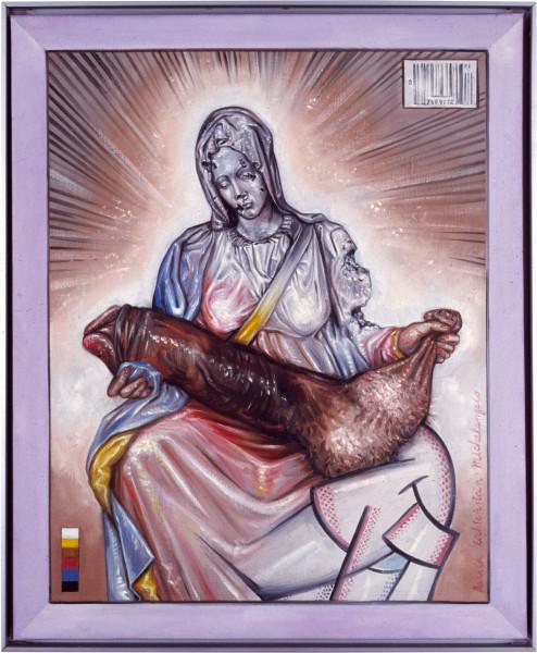 Juan Davila Holy Family, 1985; oil on canvas; 60 x 50 cm; enquire