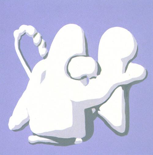 Tony Clark Jasperware Painting, 1994; acrylic paint on cotton; 91.5 x 91.5 cm; enquire