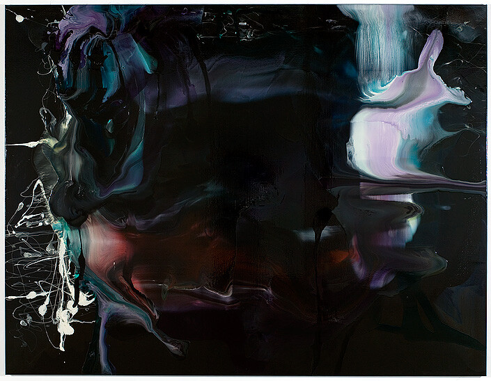 Dale Frank 11. Boring paintings with gluttonous emptiness asking why only 203 murders last year, 2008; varnish on canvas; 200 x 260 cm; enquire