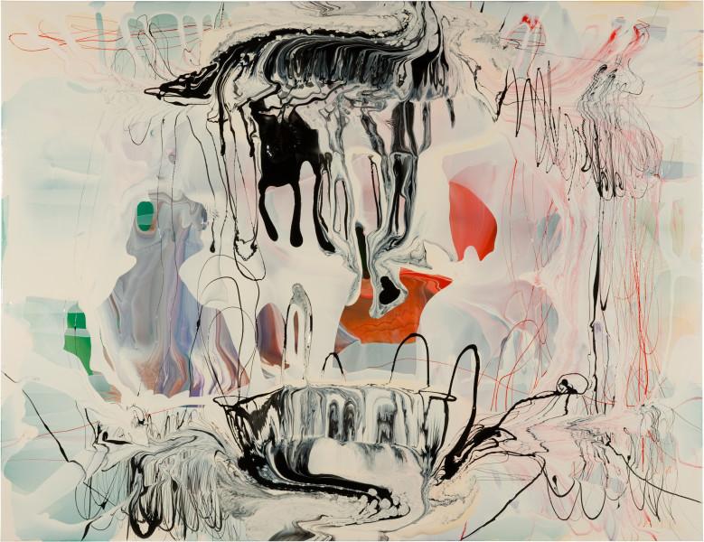 Dale Frank Albizia Julibrissin Wacky Fluffy, 2011; varnish on canvas; 200 x 260 cm; Enquire