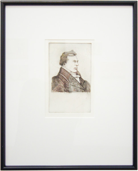Linda Marrinon Portrait of L. J. - Marie Bizeul (after Charles Meryon), 2003; drypoint etching; 39.7 x 32.2 cm; (framed), non-editioned; enquire