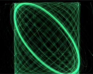 Robin Fox Volta, 2006; digital video of audio driven oscilloscope display ; (DVD format) duration 20 min 30 sec; Edition of 10; enquire