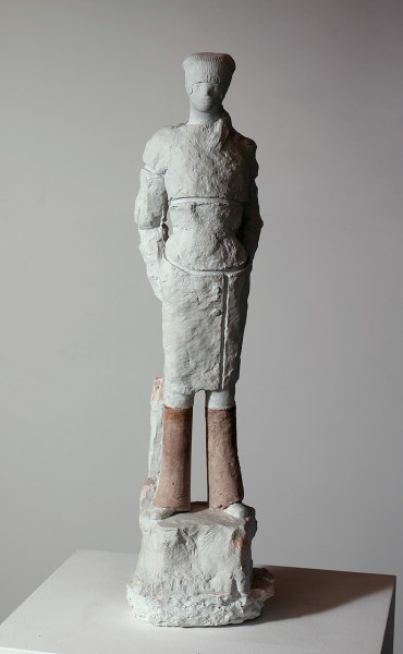 Linda Marrinon Woman with Headscarf, 2008; tinted plaster; 75 x 20 x 17 cm; enquire
