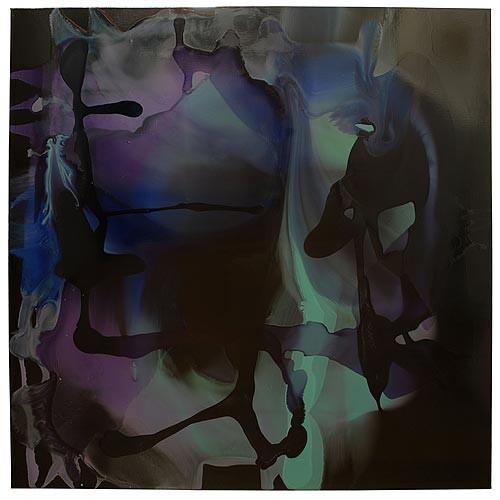 Dale Frank Ultimogeniture Brachylogy Brain Fever Dead Set, 2007; varnish on canvas; 200 x 200 cm; enquire