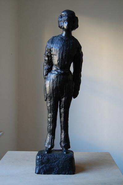 Linda Marrinon Man Dressed as a Woman, 2010; bronze; 70 x 21 x 13 cm; Edition of 3 + AP 2; enquire