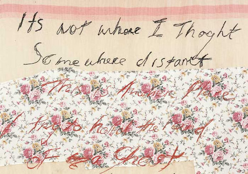 Tracey Emin DRUNK TO THE BOTTOM OF MY SOUL (detail), 2002; appliqué blanket with embroidery; 198 x 160 cm; enquire