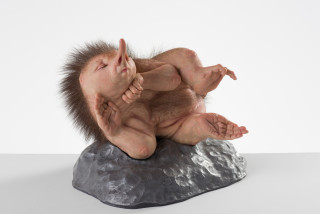 installation view; Patricia Piccinini The Dreamer, 2020; silicone, fibreglass, hair, polyurethane, aluminium; 25 x 37 x 27 cm; Edition of 6 + 2 APs; enquire