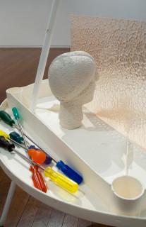 Hany Armanious Quicksand court detail, 2011; pigment polyurethane resin, porcelain, aluminium, steel; 120 x 115 x 100 cm; enquire