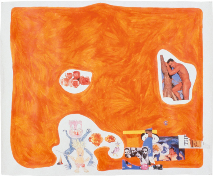 Dale Frank Untitled I (Jason Buchanan), 1997; collage and pencil and paint on paper; 150 x 183 cm; enquire