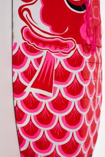 Claire Healy and Sean Cordeiro Koinobori (detail), 2020; intake cowling, acrylic gouache, polyester cord; 210 x 85 x 50 cm; enquire