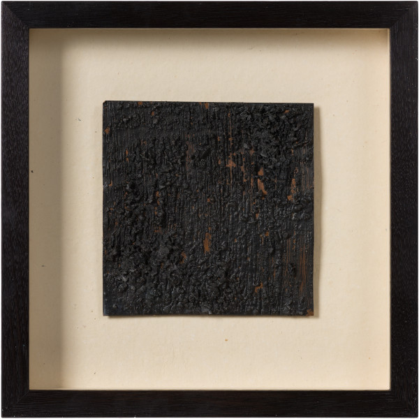 Kirtika Kain soot, 2019; charcoal, wax, copper; 34 x 34 cm; enquire