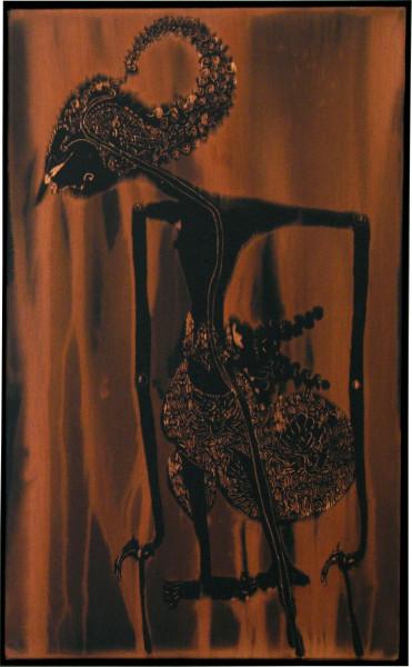 David Noonan Wayang, 2005; fabric painting; 68.5 x 48 x 6.5 cm; enquire