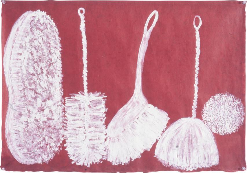 Fiona Hall Finger Bones, 1997; gouache on Daphne paper; 56 x 80 cm; enquire