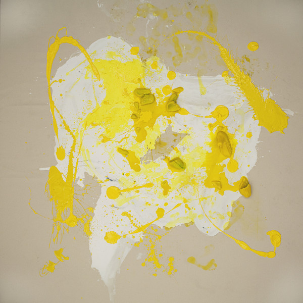 Julie Rrap Loaded: Yellow #3, 2012; digital print face mounted on perspex ; 126 x 126 cm; Edition of 3 + AP 2; enquire