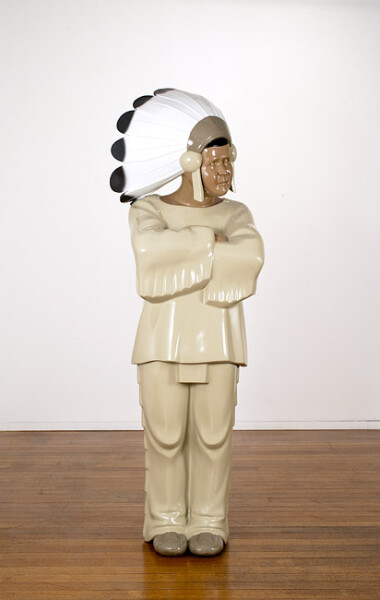 Michael Parekowhai The Brothers Grimm 9, 2009; automotive paint on fibreglass; 163 x 52 x 49 cm; enquire