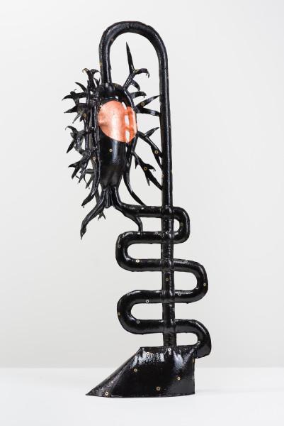 Caroline Rothwell Miss Jekyll (after K Blossfeldt), 2018; Hydrostone, canvas, epoxy glass, copper, aluminium; 110 x 38 x 38 cm; AUD 18,000.00; Enquire