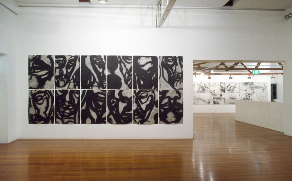Mike Parr Cubania I, 1991; liftground aquatint etching from steel; 214 x 468 cm; enquire