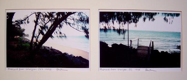 Destiny Deacon Postcard from Urangan  (6) (5), 1998; 2 colour laser prints; 21.2 x 29.8 cm; Edition of 15; enquire